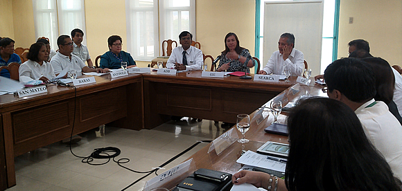 CCC Secretary Lucille Sering presiding the Project Steering Committee with Dr. Ancha Srinivasan, ADB Principal Climate Change Specialist under the Environment, Natural Resources and Agriculture Division, Southeast Asia Department (SERD) and Dr. Gil  C. Saguiguit, SEARCA Director.