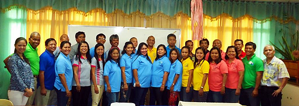 The participants of the Training on Business Proposal preparation, together with the SEARCA Project Team and DAR Officials on 24 July 2014 at CLSU, Muñoz, Nueva Ecija.