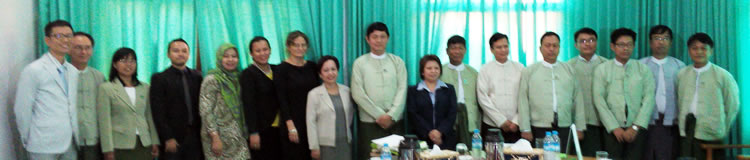 ASFCC and ASFN Team meet with officials of the Ministry of Environmental Conservation and Forestry of the Government of the Union of Myanmar to plan for the 6th ASEAN Social Forestry Network Conference and 9th ASFN Annual Meeting in 2015.
