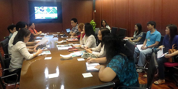 Dr. Flor Lantican and her Project team presented the Inception Report to SEARCA and PCC on 3 March 2015.