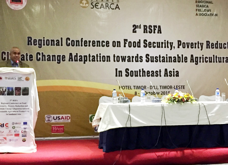 searca alumni spearheads confab on food security and climate change
