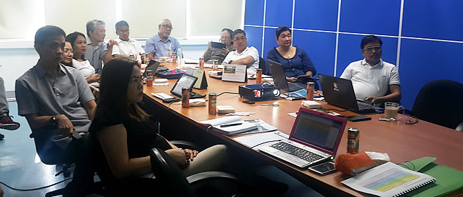 Members of PCC ExeCom during the Programming Exercise on 7 January 2016 at PCC National Headquarters, Muñoz, Nueva Ecija.