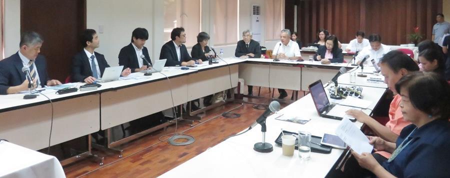 Dr. Gil C. Saguiguit, Jr. welcomes the participants of the Nagoya University-SEARCA workshop.