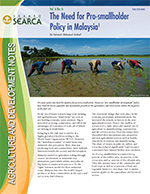The Need for Pro-smallholder Policy in Malaysia