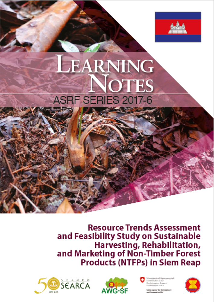 Resource Trends Assessment and Feasibility Study on Sustainable Harvesting, Rehabilitation, and Marketing of Non-Timber Forest Products (NTFPs) in Siem Reap