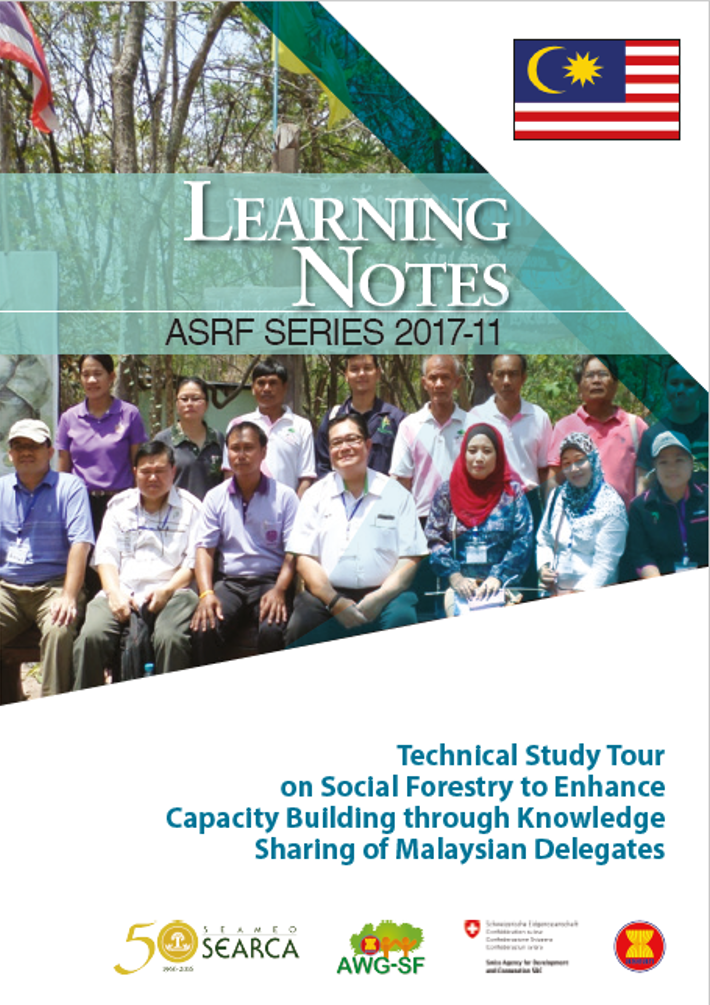 Technical Study Tour on Social Forestry to Enhance Capacity Building through Knowledge Sharing of Malaysian Delegates