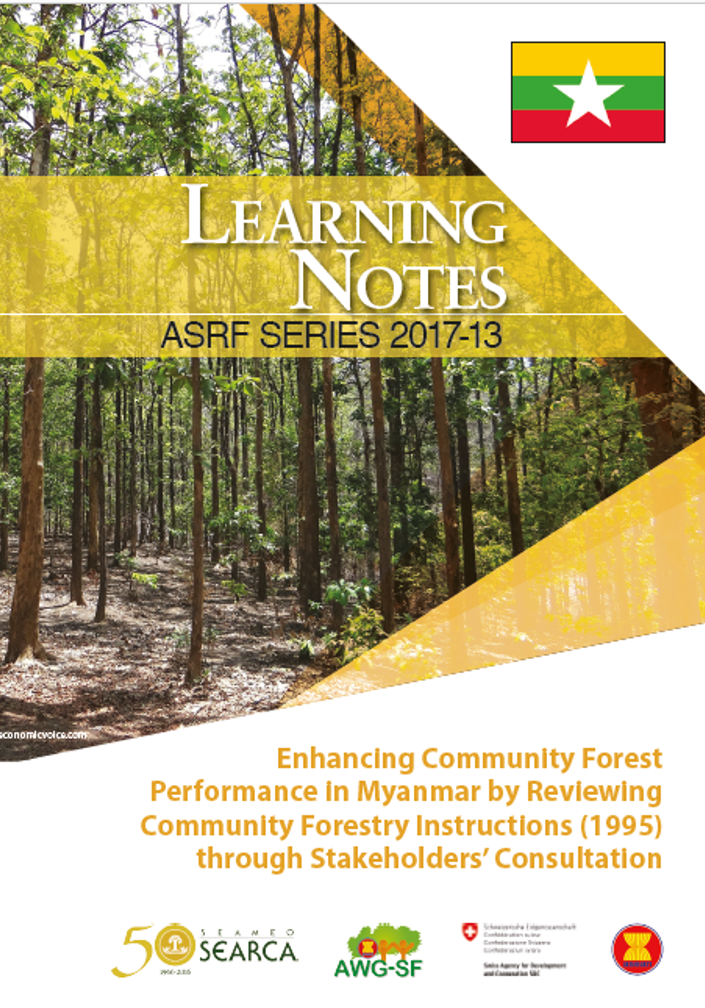 Enhancing Community Forest Performance in Myanmar by Reviewing Community Forestry Instructions (1995) through Stakeholders' Consultation